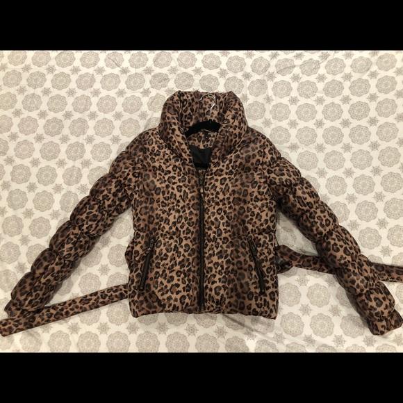 f203fc062 Leopard print H&M down jacket